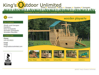 King's Outdoor Unlimited Wooden Playsets