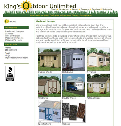 King's Outdoor Unlimited Sheds and Garages
